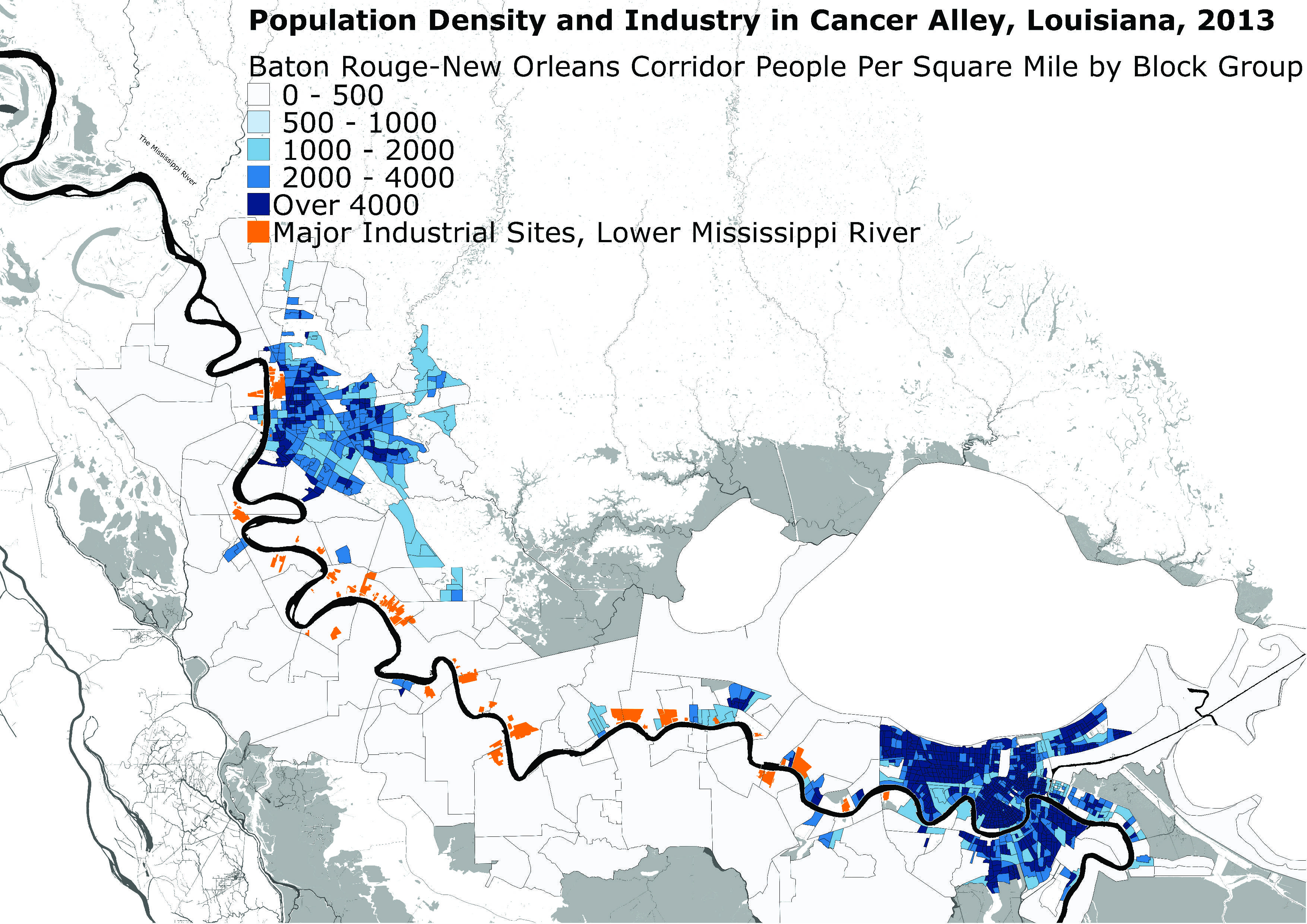 alley louisiana map Industry Infrastructure Cancer Alley La And Detroit Mi alley louisiana map
